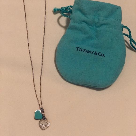 a2454aa1c Tiffany & Co. Jewelry | Return To Tiffany Mini Double Heart Tag ...